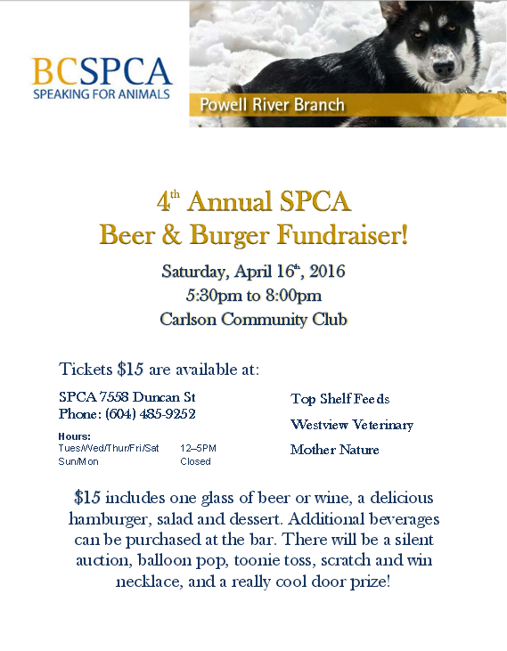 beer and beef spca
