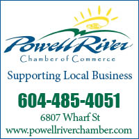 Powell River Chamber button
