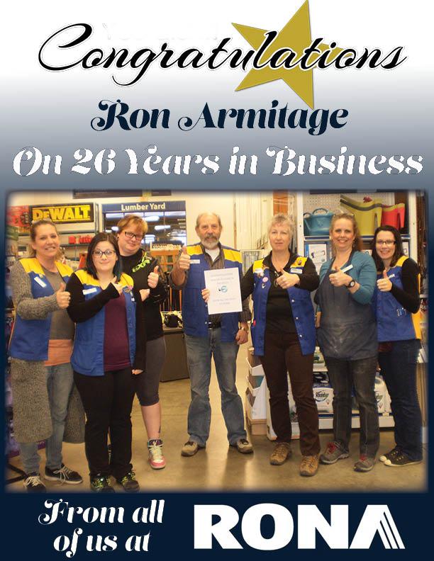 RONA congrats armitage poster