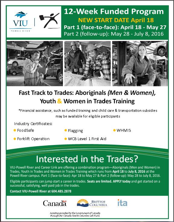 VIU Trades poster