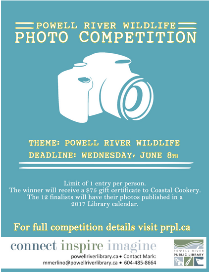 powell river wildlife photography competition poster